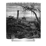 Louisiana: Steamboat Wreck Shower Curtain