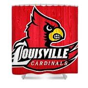 Louisville Cardinals Barn Door Shower Curtain