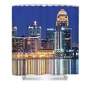 Louisville Kentucky Lights Shower Curtain