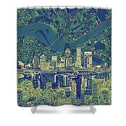Louisville Kentucky Skyline Abstract 6 Shower Curtain