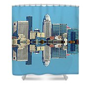 Louisville Skyline Reflection Shower Curtain