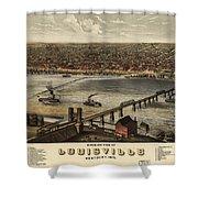 Louisville Vintage Map Shower Curtain