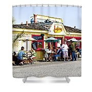 Loulou's On The Commercial Pier In Monterey-california Shower Curtain