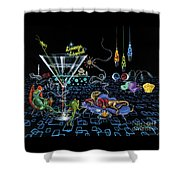 Lounge Lizard Shower Curtain