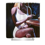 Lounge Lizard's Eye View Shower Curtain