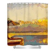 Lounging Licous Shower Curtain