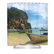 Lounging Longboats Shower Curtain