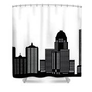 Lousivile Skyline Shower Curtain