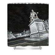 Louvre Museum 7 Art Bw Shower Curtain