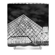 Louvre Museum Bw Shower Curtain