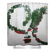 Love Abounds - Tile Shower Curtain