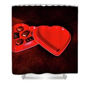 Love And Chocolate Shower Curtain
