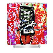 Love And Converse Shower Curtain