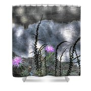 Love And Death Shower Curtain by Wayne King