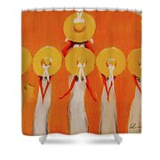 Love And Five Opinions Shower Curtain