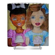 Love And Friendship  Shower Curtain