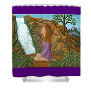 Love And Gratitude Meditation - Illustration #13 In The Infinite Song Shower Curtain