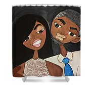 Love And Kisses Shower Curtain