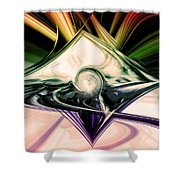 Love And Light Shower Curtain by Linda Sannuti