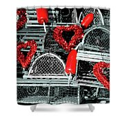 Love And Lobster Shower Curtain
