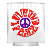Love And Peace 14 Shower Curtain