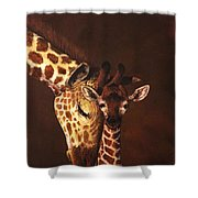 Love And Pride Giraffes Shower Curtain