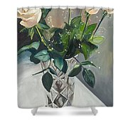 Love And Roses Shower Curtain