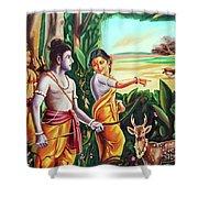 Love And Valour- Ramayana- The Divine Saga Shower Curtain