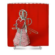 Love Angel Shower Curtain