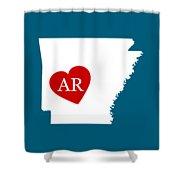 Love Arkansas White Shower Curtain