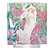 Love Arrives In Spring Shower Curtain
