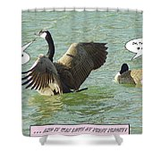 Love At First Flight Shower Curtain