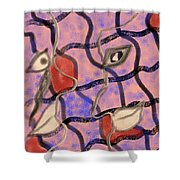 Love Between Dimensions Shower Curtain