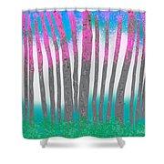 Love Birch Shower Curtain