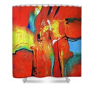 The Passage Of Power Shower Curtain