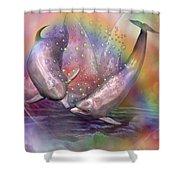 Love Bubbles Shower Curtain