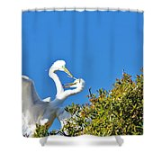 Love Builds A Home Shower Curtain