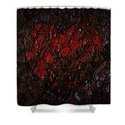 Love Buried Deep Shower Curtain