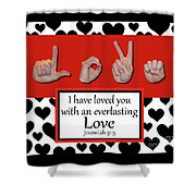 Love - Bw Graphic Shower Curtain