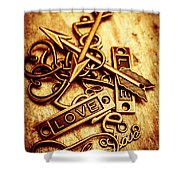 Love Charms In Romantic Signs And Symbols Shower Curtain