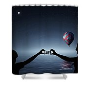 Love - Digital Art Shower Curtain