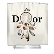 Love Dior Watercolour Dreamcatcher Shower Curtain