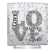 Love Droplets Shower Curtain