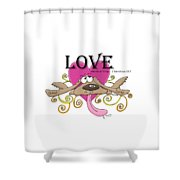 Love Endures Shower Curtain