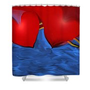 Love Flow Shower Curtain