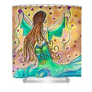Love From The Sea Shower Curtain