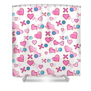 Love Hugs And Kisses Shower Curtain