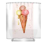 Love Ice Cream Shower Curtain