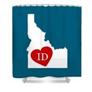 Love Idaho White Shower Curtain