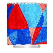 Love In Abstract Word Art Shower Curtain